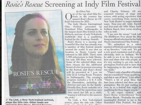 Rosie's Rescue Screening at Indy Film Festival