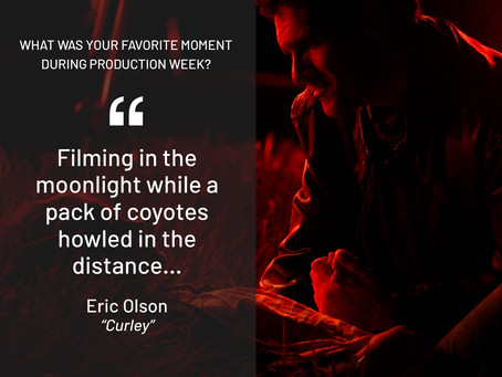 When Eric Olson was asked what his favorite moment on set was, this is what he said!