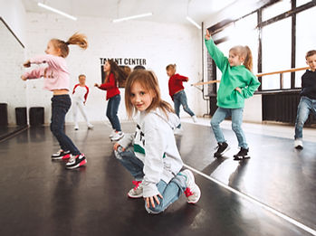 The kids at dance school. Ballet, hiphop