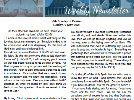 Don't Forget to pick up Our Pentecost Novena Booklet this weekend!!