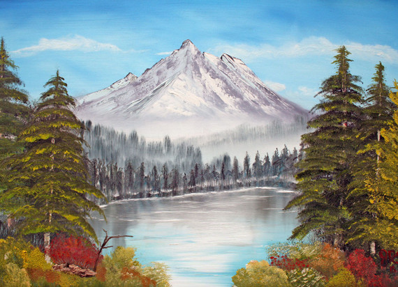 Mountain in the pines