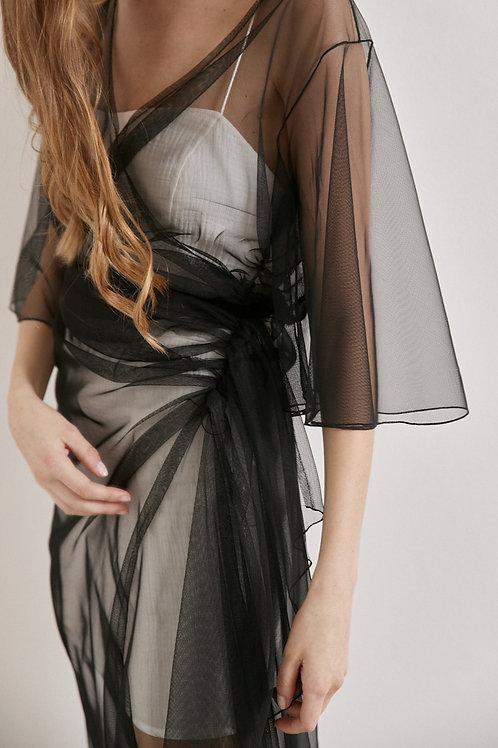 Černé tylové šaty