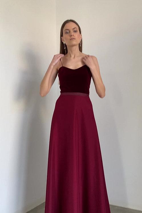 Společenské dvoudílné šaty