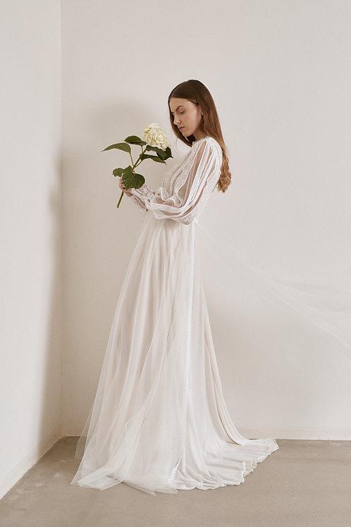 Boho svatební šaty