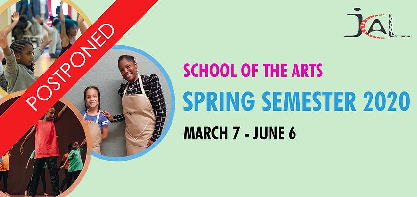 school of the arts spring 2020_postponed