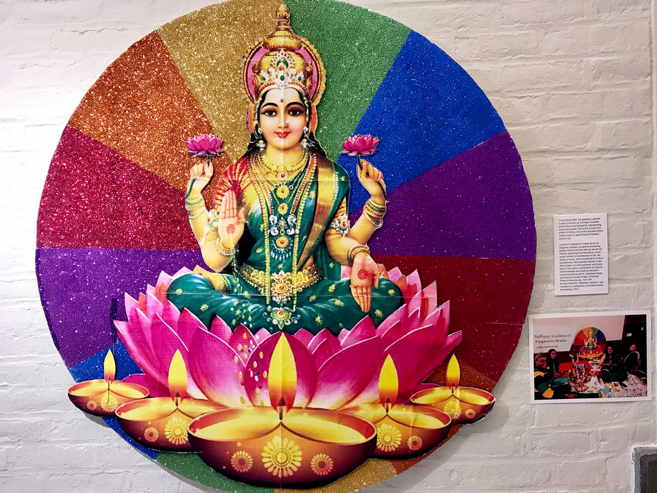 Installation View (Rainbow Lakshmi)