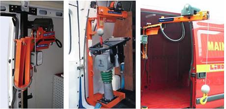 Kleinkrane 100-250 kg mit der Fahrzeugelektrik zu betreiben.