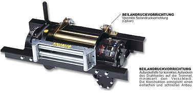 Hydraulische Zugseilwinde bis 5,74 toType RSH (Schneckengetriebe)