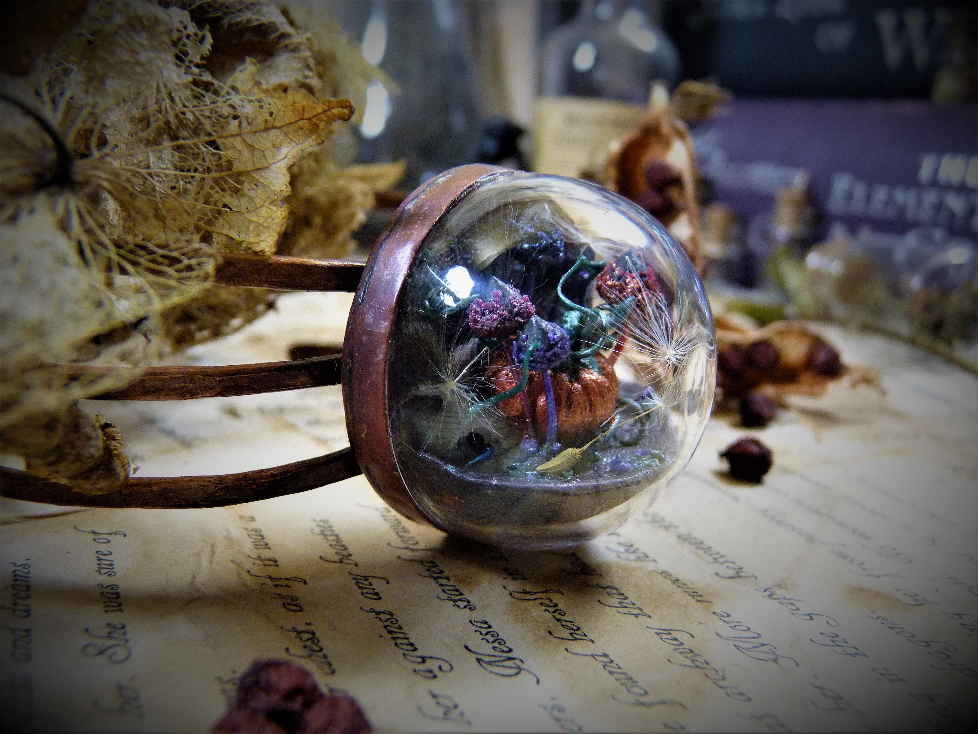 Perfect Pumpkin And Witchy Mushrooms Terrarium Bangle