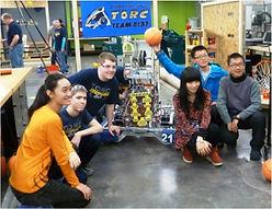 Chinese exchange students on robotics team