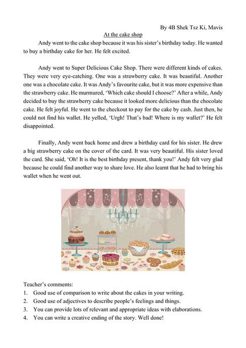 4B Shek Tsz Ki Mavis At the cake shop.jp