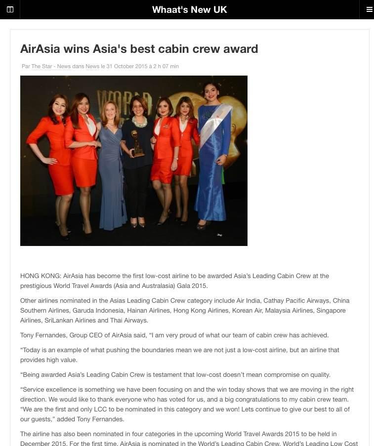 World Travel Awards press