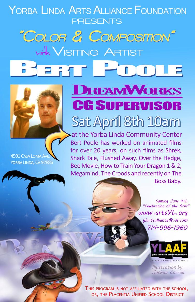 Bert Poole to speak on Saturday