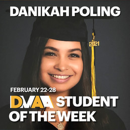 Danikah Poling is the DMAA Student of the Week for February 22-28