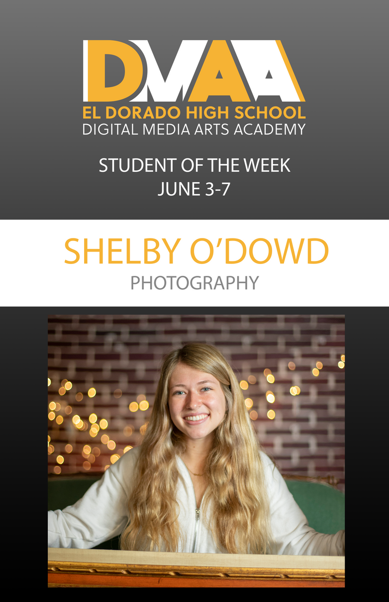 Shelby O'Dowd '19 is the DMAA Student of the Week for June 3-7