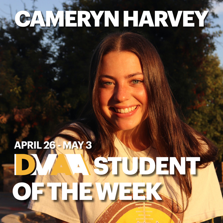 Cameryn Harvey is the DMAA Student of the Week for April 26 - May 3