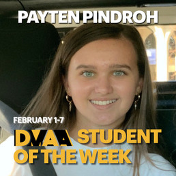 Peyten Pindroh is the DMAA Student of the Week for February 1-7