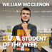 William McClenon is the DMAA Student of the Week for May 3-9
