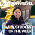 Allyson Weisel is the DMAA Student of the Week for January 11-17