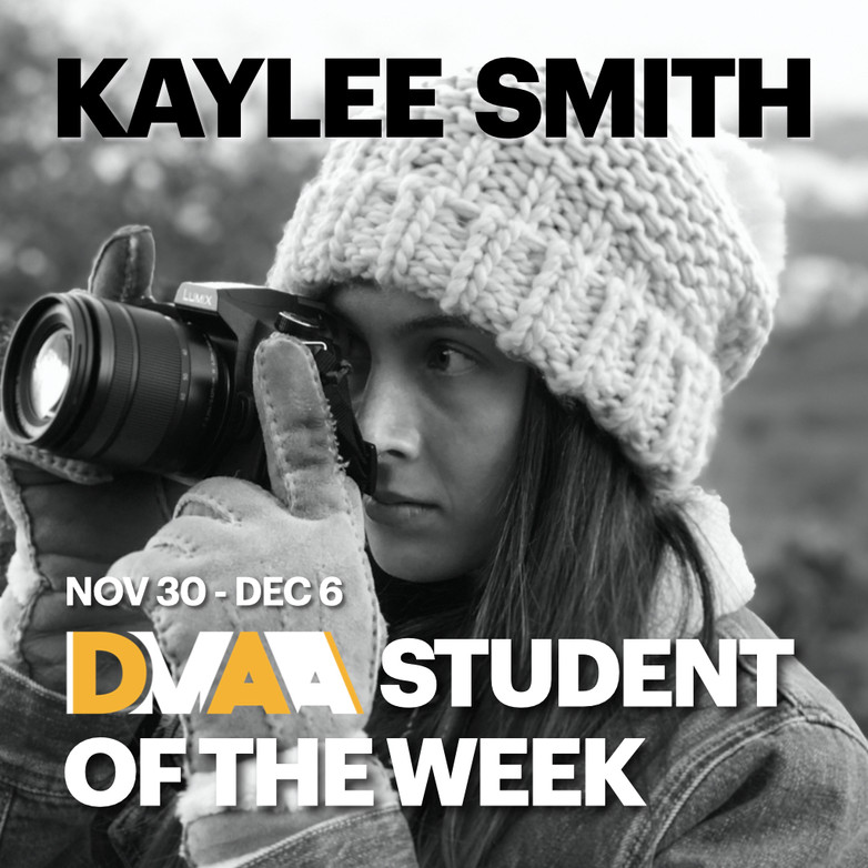 Kaylee Smith is the DMAA Student of the Week for 11-30 to 12-6