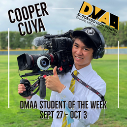 Cooper Cuya is the DMAA Student of the Week for September 27th