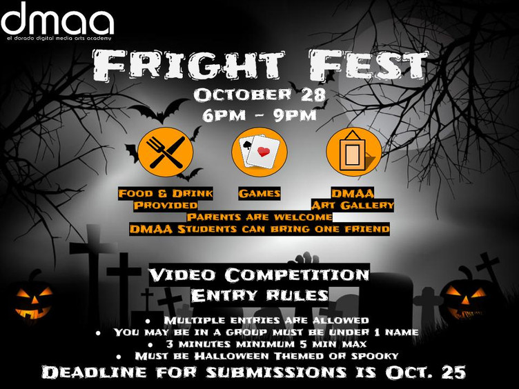 DMAA Fright Fest this Friday, October 28.