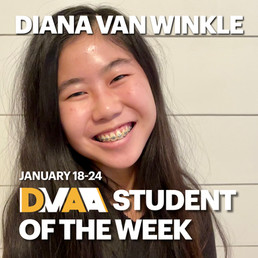 Diana Van Winkle is the DMAA Student of the Week for January 18-24
