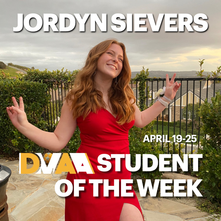 Jordyn Sievers is the DMAA Student of the Week for April 19-25