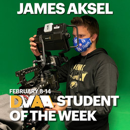 James Aksel is the DMAA Student of the Week for February 8-14