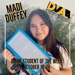 DMAA STUDENT OF THE WEEK - DUFFEY