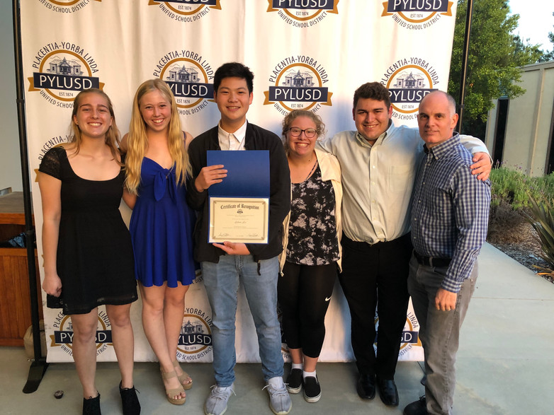 DMAA Students Recognized at PYLUSD School Board Meeting