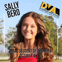 Sally Bero is the DMAA Student of the Week for October 4th