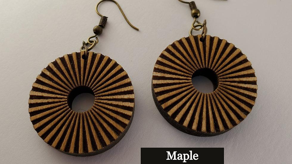 Striped Circle Earring