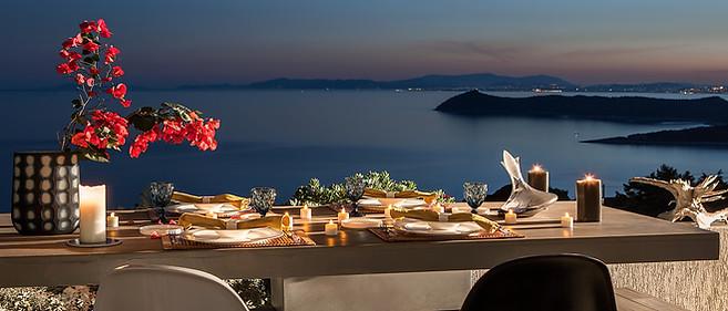 Sea view villa rental Greece