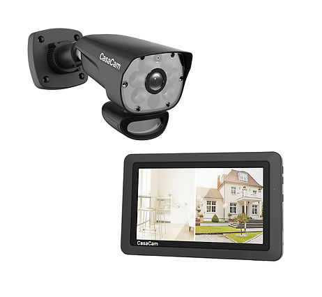 """CasaCam Wireless Security Camera System with HD Spotlight Camera and 7"""" Touchscreen Monitor (1-cam kit)"""
