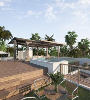 Roof garden / infinite pool noox tulum