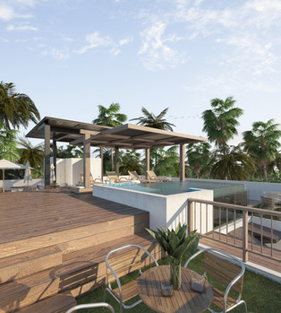 Roof garden / infinite pool noox tulum