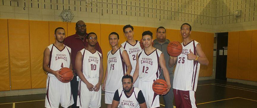 Coach K with 2016 New Heights Varsity Boys Basketball Team
