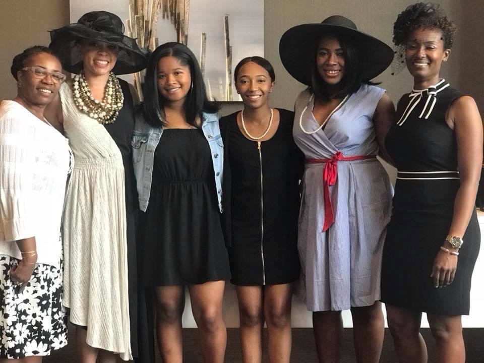 Leaders of Reid Temple AME Church's Rites of Passage Ministry; High School Graduates; Aliyah & Danielle; and Urban Mentor Founder, Leonitha Francis