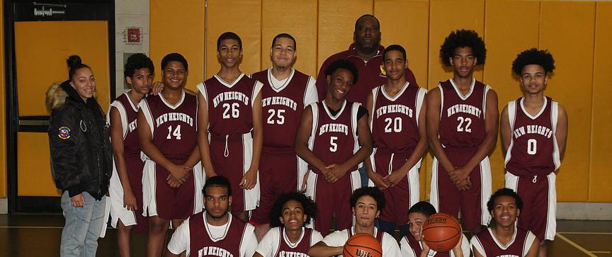 New Heights 2017 JV Boys Basketball Team