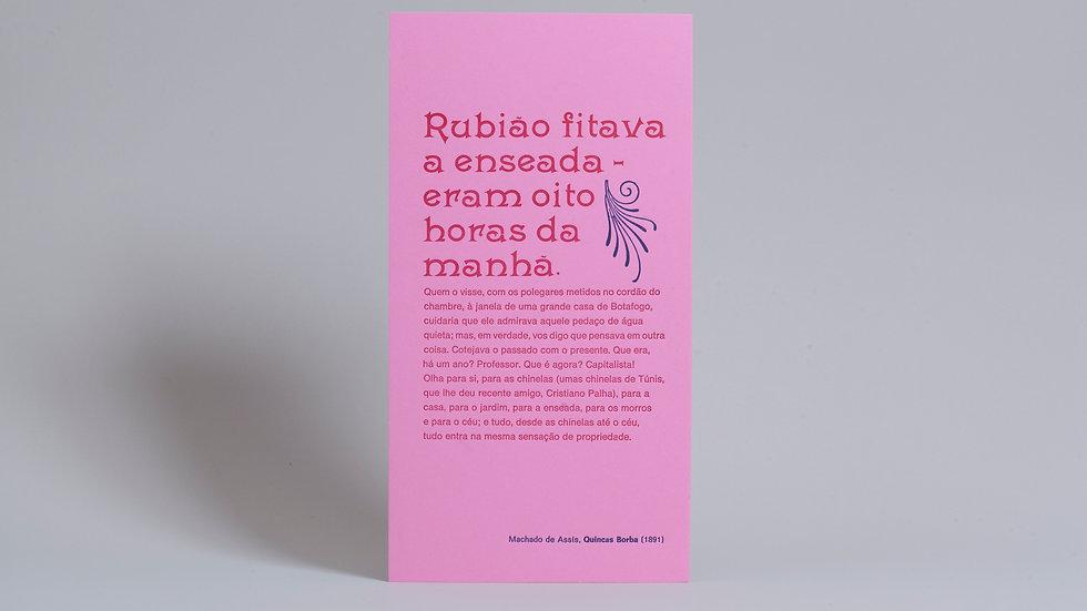 """Cartazete """"Quincas Borba"""" / Machado de Assis"""