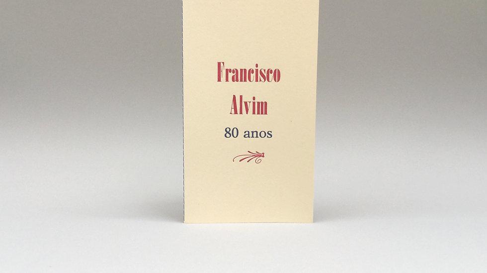 Francisco Alvim - 80 anos / Plaquete Vozes, Versos