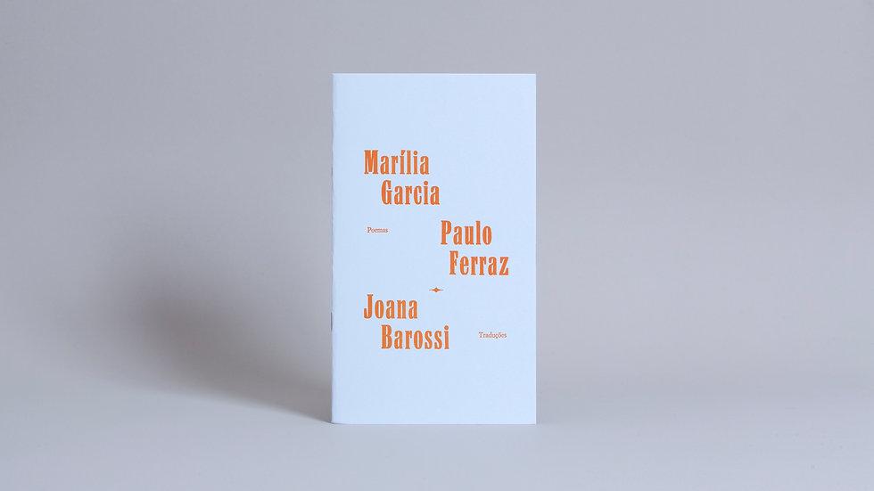 Plaquete Vozes, Versos / Marília Garcia, Paulo Ferraz e Joana Barossi