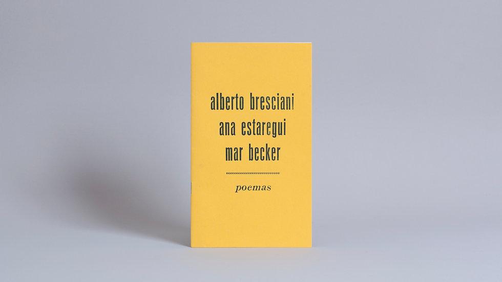 Plaquete Vozes, Versos / Alberto Bresciani, Ana Estaregui e Mar Becker