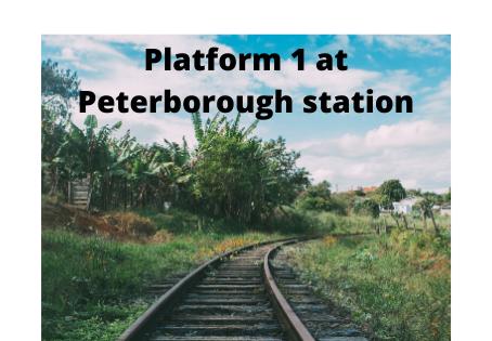 Platform 1 at Peterborough Station