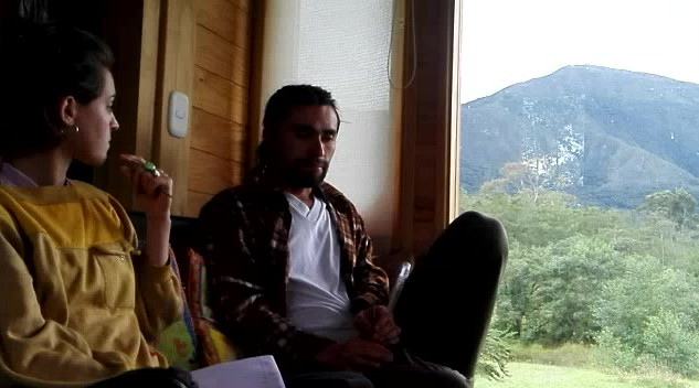 Paula Almiron trabajando con su PAR Jose