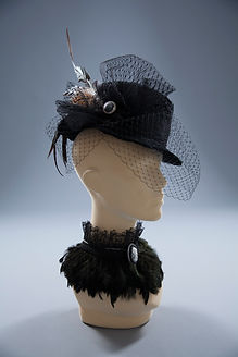 Suede Studios Steampunk feather hat & ch