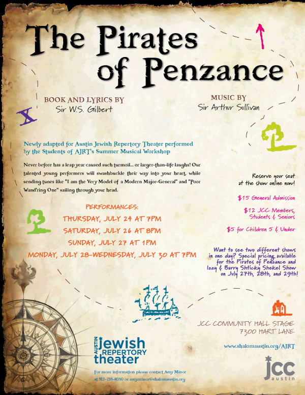Shalom Austin Theater Pirates Flyer