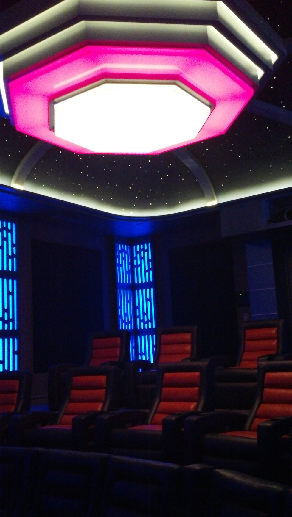 The Star Wars Theater Lit Up