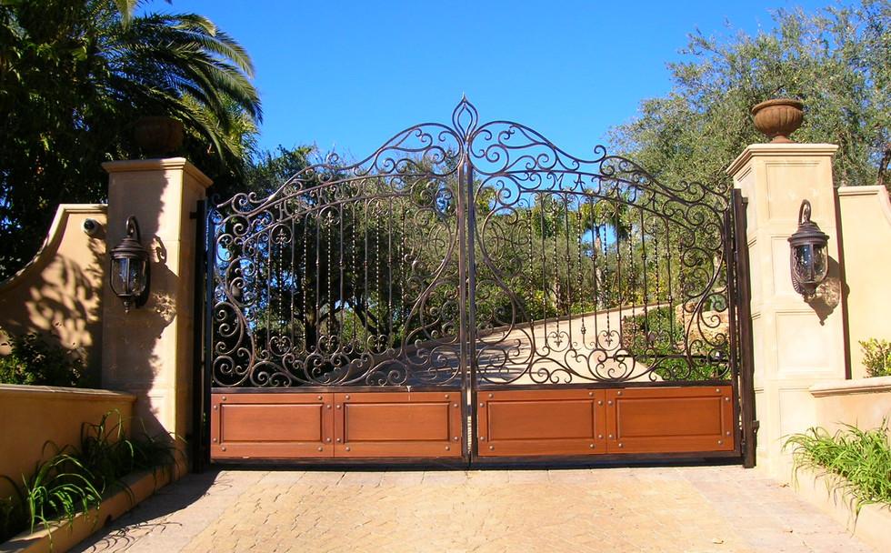 Wrought Iron Entry Gates